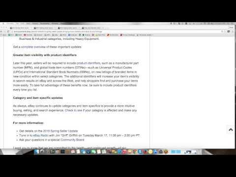 ebay Spring 2015 Seller Update Review