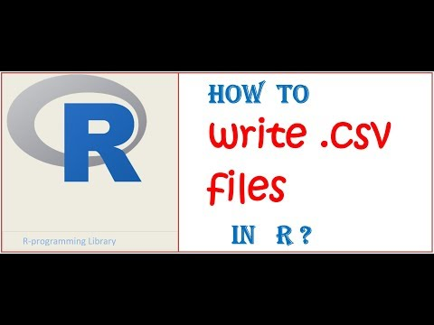How to write .csv file in R ?? write and save file in R studio