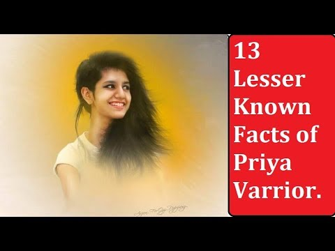 😍😍😍 13 Lesser Known Facts of Priya Varrior | | 13 Things You Should Know About Priya Varrior