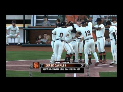 MLB 14 The Show- 74 Home Runs | Broke The Home Run Record!