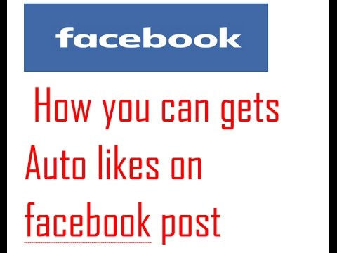 How you can gets auto likes on Facebook post? | 50-100 like on every Facebok post