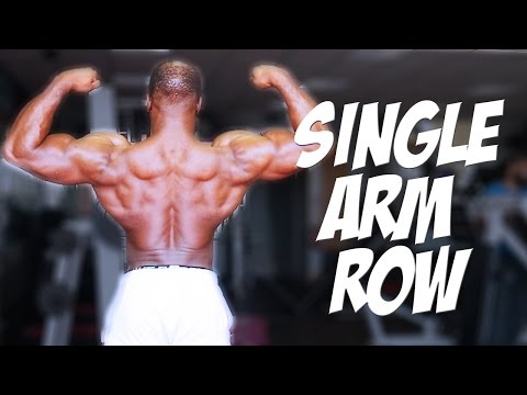 How to: Single Arm Dumbbell Row For That Cobra Back | Gabriel Sey