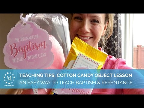 Easy cotton candy object lesson to teach baptism and repentance video