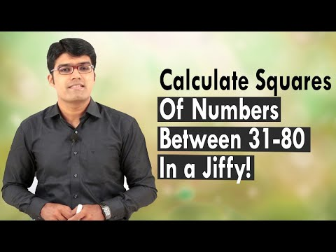Calculate Squares of Numbers Between 31 - 80 in a Jiffy! | TalentSprint