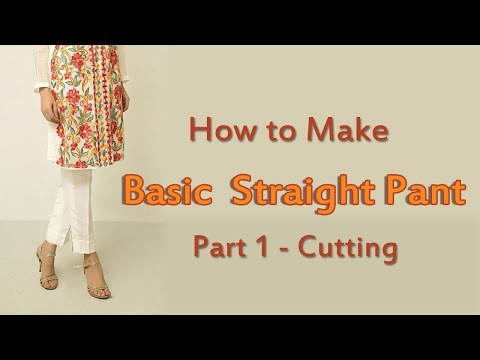How to Make Straight Pants | Straight Pant Cutting!!