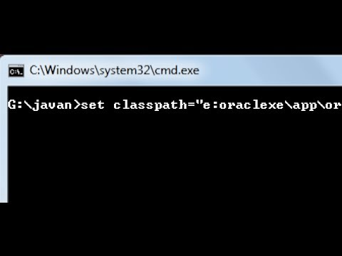 how to set classpath for jdbc driver