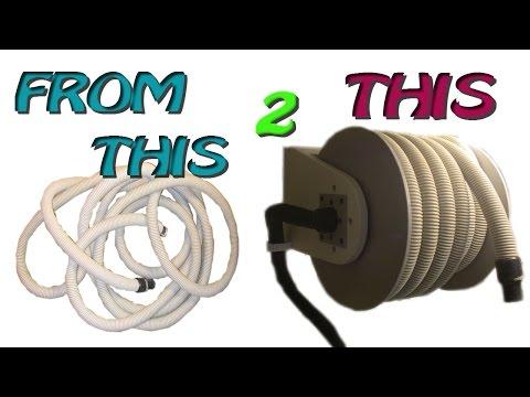 Homemade Vacuum Hose Reel