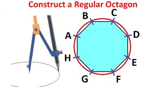 Constructing A Regular Octagon Within Given Circle By Using Ruler And