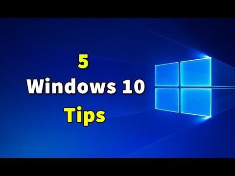 5 Windows 10 Tips