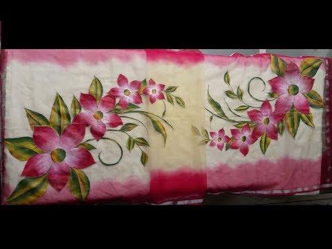 Learn Fabric Painting Dupatta Full Design
