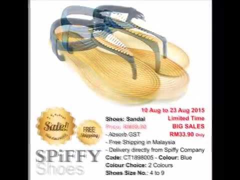 Malaysia Shoes Spiffy Brand Sandals CT1898005 Blue Colour Shoe Fashion Ladies Lady