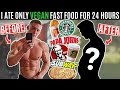 I Ate Only VEGAN FAST FOOD For 24 Hours