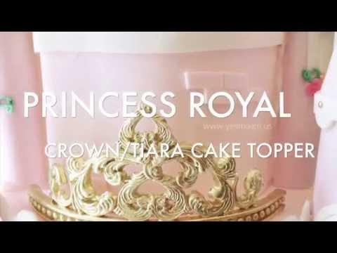 How To: Princess Crown / Tiara Fondant Cake Topper (12/30)