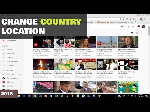 How to change country location on YouTube - 2018