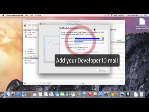 Create the Developer ID Certificate for the Mac App Store