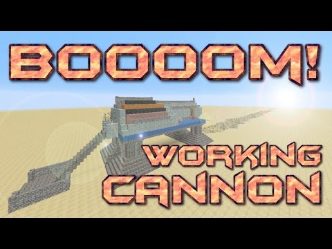 MINECRAFT: How to build a Cannon in Minecraft | Artillery Cannon in Minecraft | Minecraft Tutorial
