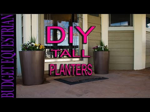 How To Make Tall Flower Planters, Easy and Inexpensive!