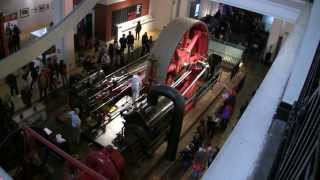 Starting The Big Red Corliss Steam Engine