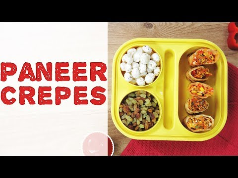 Paneer Crepes Recipe | How To Make Eggless Crepes At Home | Cottage Cheese Recipe For Kids