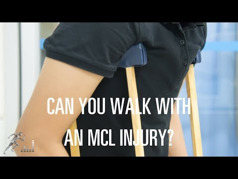 Can I walk with an MCL injury?
