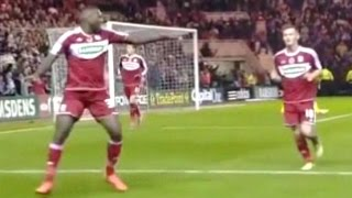 Middlesbrough v Sheffield Wednesday 2012-13 HOYTE GOAL McREACHRAN DRIBBLE