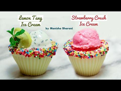 Homemade Lemon Tang | Strawberry Crush Ice Cream in 2 Minutes– Quick  Natural Ice Cream Recipe