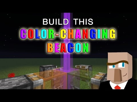 COLOR-CHANGING RAINBOW BEACON: How to Build This Minecraft Must-Have Quickly and Easily