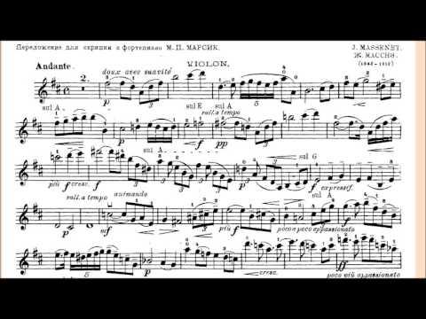 Massenet's Meditation Piano Accompaniment for Violin