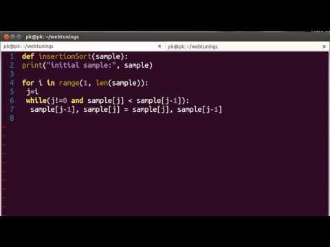 Python Algorithms - Insertion sort