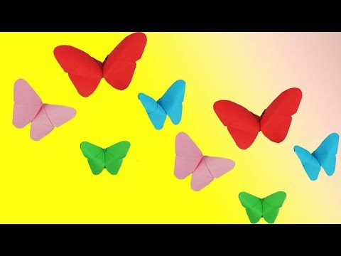 How To Make Beautiful Paper Butterfly - Easy Craft Tcraft