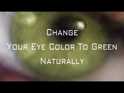 Change Your Eye Color To green Naturally (Subliminal)