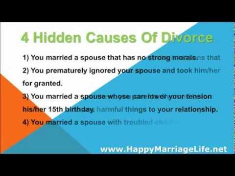 4 Hidden Causes Of Divorce