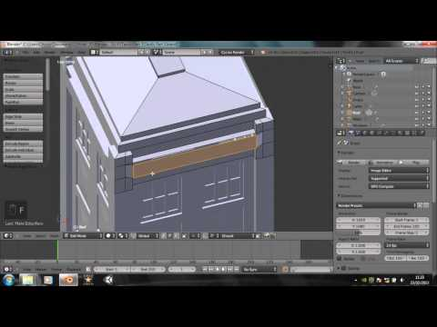 Blender Tutorial - How to make a TARDIS - Part 3