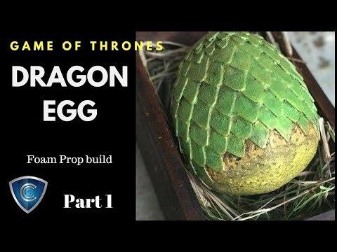 Game of Thrones DIY Foam Dragon Egg prop part 1