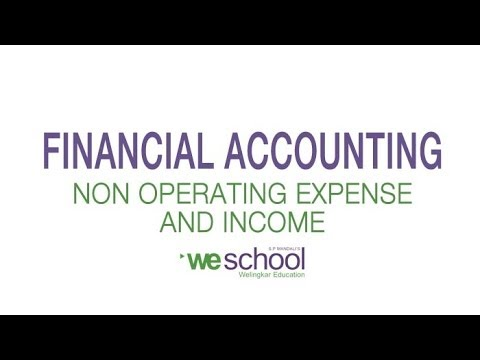 Which are the Non Operating Expenses & Non Operating Income