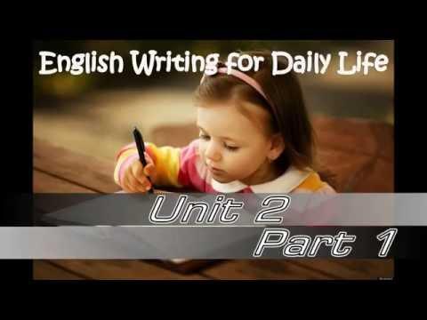 การเขียนภาษาอังกฤษในชีวิตประจำวัน การเขียนระดับย่อหน้า ส่วนที่ 1