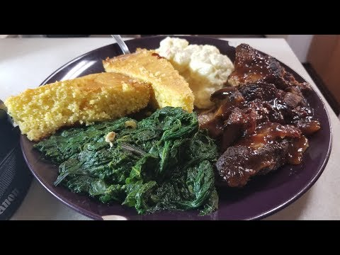 HollyHood's Slow Cooker Country Style Ribs & Pressure Cooker Greens