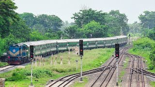 Silk City Express Train Entering Abdulpur Junction Railway Station- Bangladesh Railway