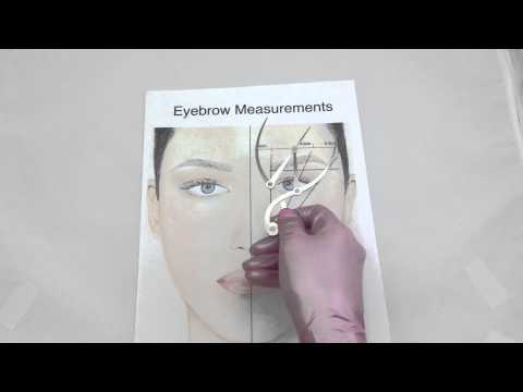 How to use your Golden Mean Calipers for Eyebrow Measurement