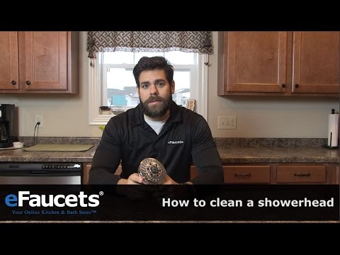 How to Clean a Shower Head - eFaucets.com