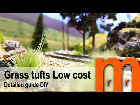 Model tufts of grass Low cost - Detailed guide DIY
