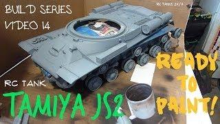 Tamiya JS-2 1/16 RC Tank Build Series Video 14
