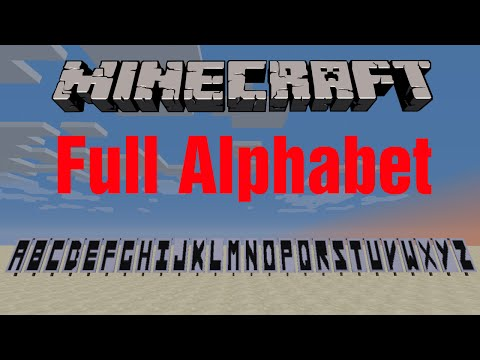 Minecraft Banners: How to make the Alphabet
