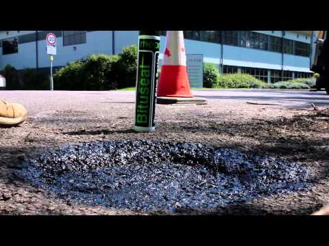 How to repair a pothole with cold lay tarmac
