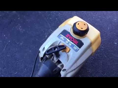 How to add string / line to your weed eater / trimmer.  Ryobi