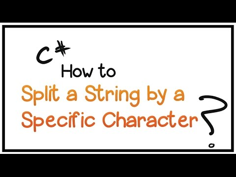 C# Tutorial - Part 15-How to split a string by a specific character/symbol