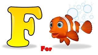 "How to Drawing Fish & Coloring | Learn Alphabet ""F"" for Kids 