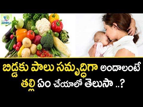 How To Increase Breast Milk Supply - Mana Arogyam | Women Health Tips