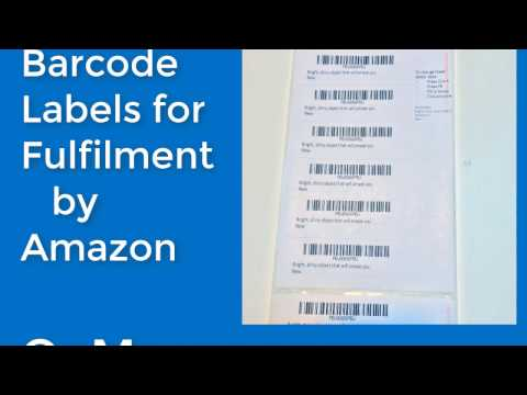 Fulfilment by Amazon FBA Barcode FNSKU Labels for Thermal Printers with Microsoft Word Mail Merge