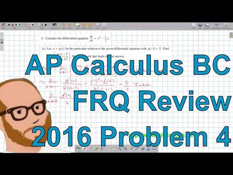 Calculus BC Free Response 2016 FRQ 4